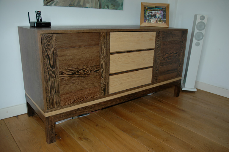 Wenge and oak sideboard
