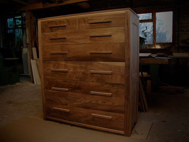 Andrew Lane Furniture » Walnut chest of drawers