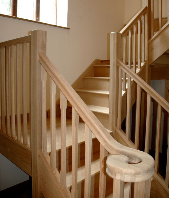 Staircase - unvarnished