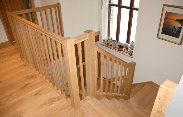 Andrew Lane Furniture 187 Solid Oak Staircase